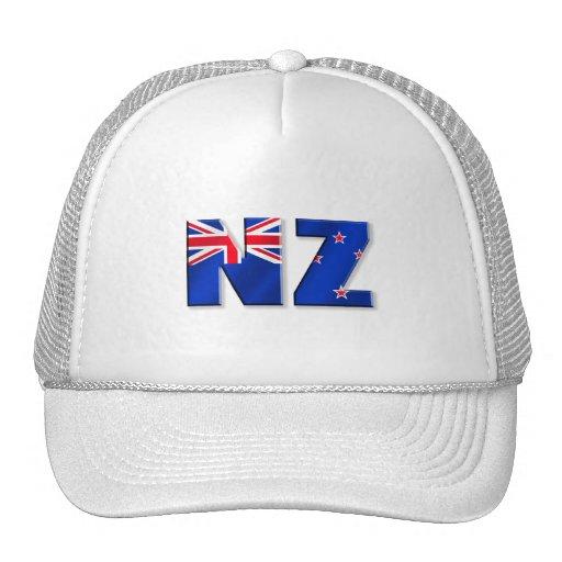 Bandera del logotipo de NZ de Nueva Zelanda Gorras