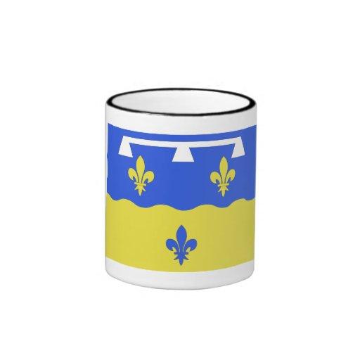 Bandera del Loir-et-Cher Tazas De Café
