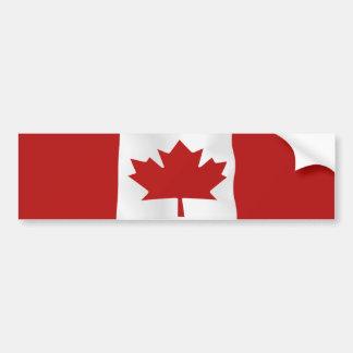 Bandera del l'Unifolié de Canadá Etiqueta De Parachoque