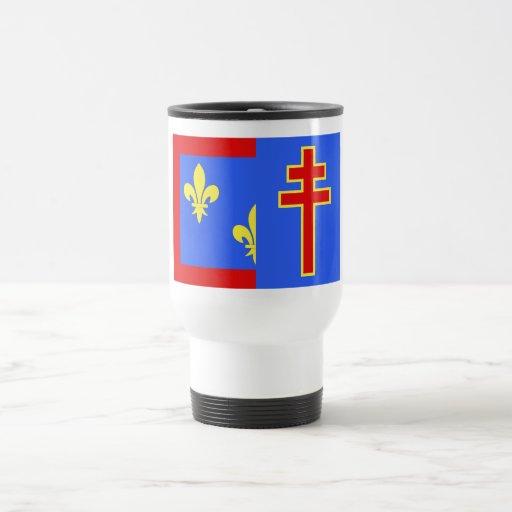 Bandera del Maine-et-Loire Tazas De Café