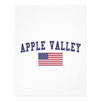 Bandera del manganeso los E.E.U.U. del valle de Plantilla De Membrete