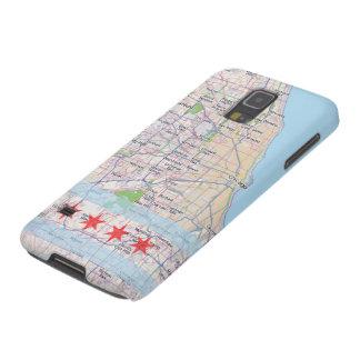 Bandera del mapa de Chicago Carcasas Para Galaxy S5