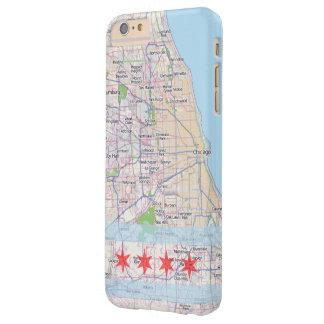 Bandera del mapa de Chicago Funda Para iPhone 6 Plus Barely There
