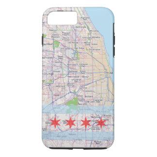 Bandera del mapa de Chicago Funda iPhone 7 Plus