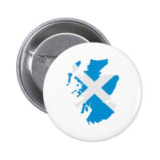 Bandera del mapa de Escocia Pins