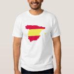 Bandera del mapa de España Remeras