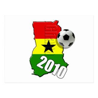 Bandera del mapa de Ghana de los regalos del balón Tarjetas Postales