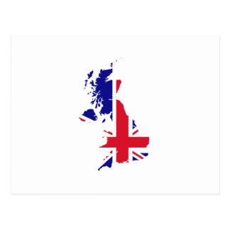 Bandera del mapa de Gran Bretaña Postal