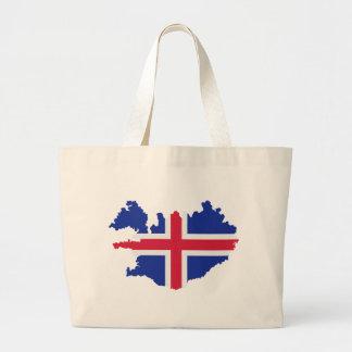 Bandera del mapa de Islandia Bolsa De Mano