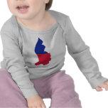 Bandera del mapa de Liechtenstein Camisetas