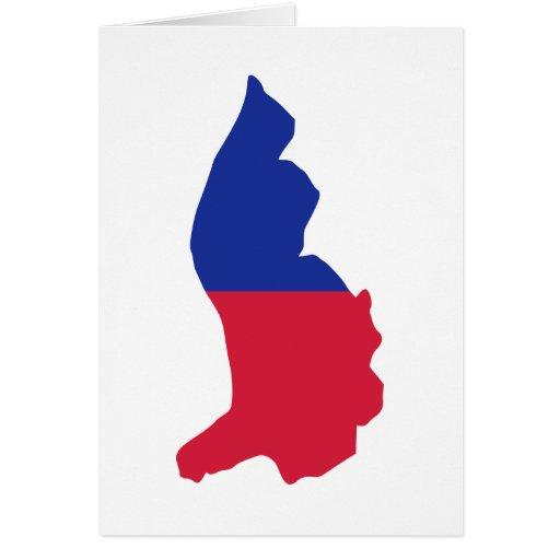 Bandera del mapa de Liechtenstein Tarjeton