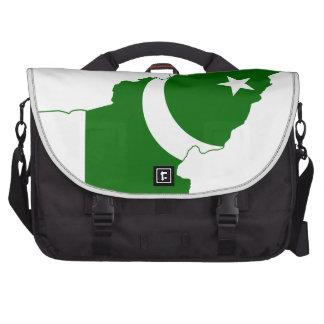 Bandera del mapa de Paquistán Bolsas Para Portatil