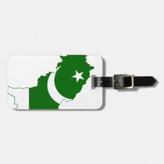 Bandera del mapa de Paquistán Etiquetas Bolsas