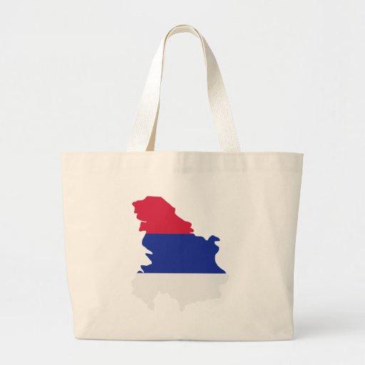 Bandera del mapa de Serbia Bolsas De Mano