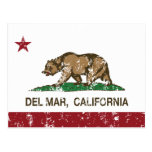 bandera Del Mar de California apenada Postal