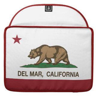 Bandera Del Mar del estado de la república de Cali Fundas Para Macbooks