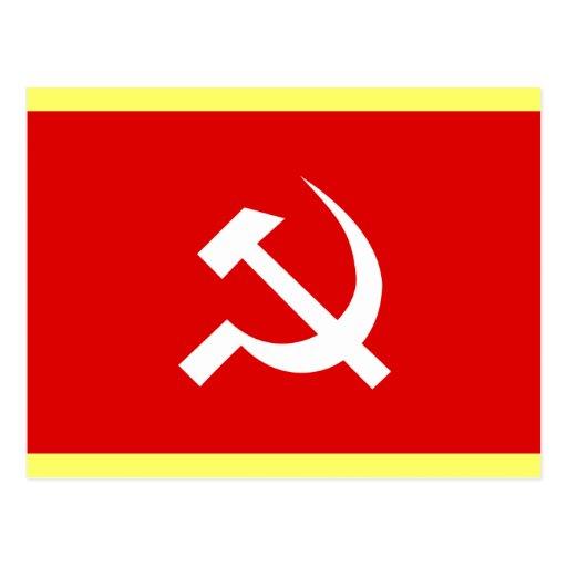 Bandera del martillo y de la hoz de URSS del ruso Tarjetas Postales