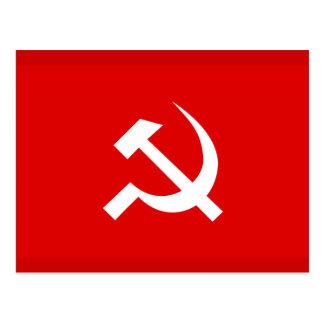 Bandera del martillo y de la hoz de URSS del ruso Tarjeta Postal