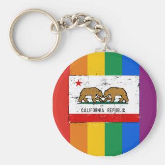 BANDERA DEL MATRIMONIO HOMOSEXUAL DE CALIFORNIA LLAVEROS PERSONALIZADOS