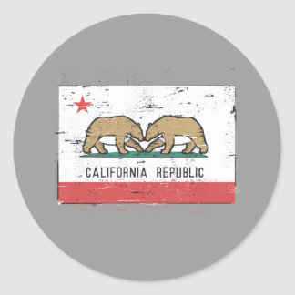 Bandera del matrimonio homosexual de California Pegatina Redonda