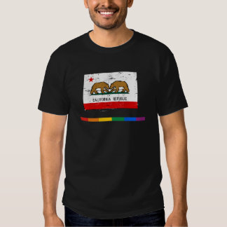 BANDERA DEL MATRIMONIO HOMOSEXUAL DE CALIFORNIA PLAYERA