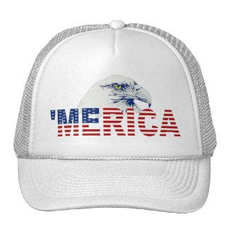 Bandera del ` MERICA LOS E.E.U.U. y gorra del cami