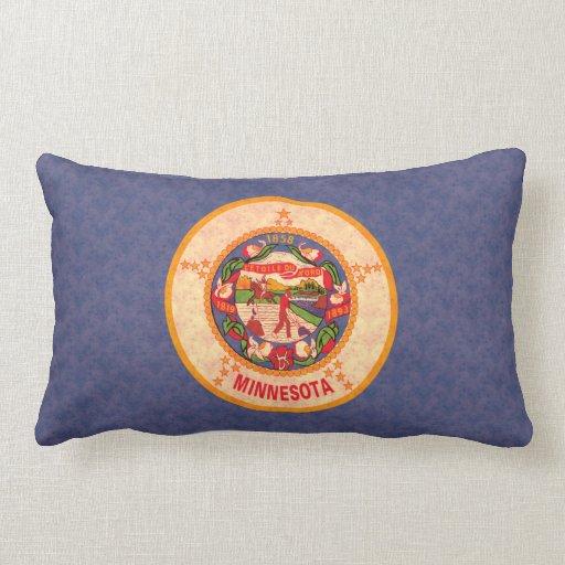 Bandera del Minnesotan del modelo del vintage Almohadas