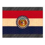 Bandera del Missourian del modelo del vintage Tarjeta Postal