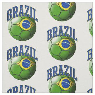 Bandera del modelo del balón de fútbol del Brasil Telas