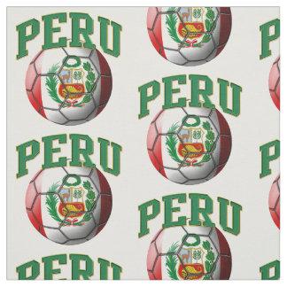 Bandera del modelo peruano del balón de fútbol de tela