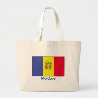 Bandera del Moldavia Bolsa Tela Grande