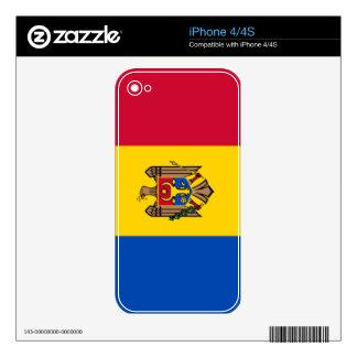 Bandera del Moldavia Calcomanía Para iPhone 4S