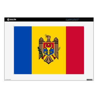 Bandera del Moldavia Calcomanías Para Portátiles