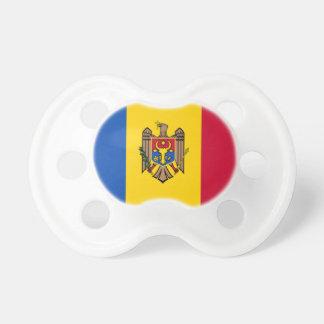 Bandera del Moldavia Chupetes Para Bebes