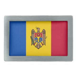 Bandera del Moldavia Hebilla Cinturón Rectangular
