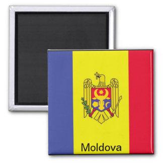 Bandera del Moldavia Imán Cuadrado