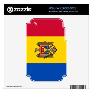 Bandera del Moldavia iPhone 3GS Skin
