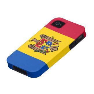 Bandera del Moldavia iPhone 4 Carcasa