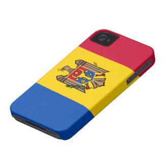 Bandera del Moldavia iPhone 4 Carcasas