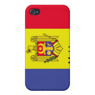 Bandera del Moldavia iPhone 4 Fundas