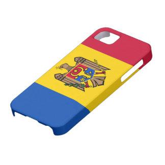 Bandera del Moldavia iPhone 5 Funda
