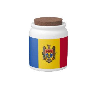 Bandera del Moldavia Jarra Para Caramelo