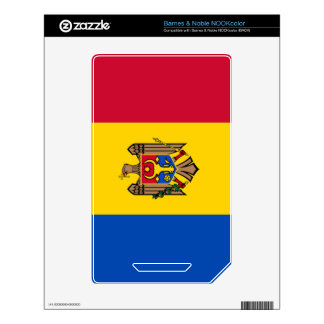 Bandera del Moldavia NOOK Color Calcomanía