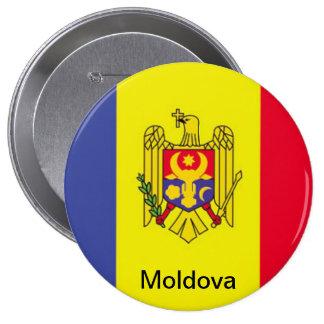 Bandera del Moldavia Pin Redondo 10 Cm