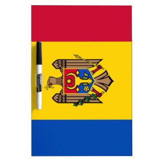 Bandera del Moldavia Pizarras Blancas