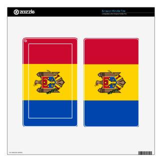 Bandera del Moldavia Skins Para Kindle Fire