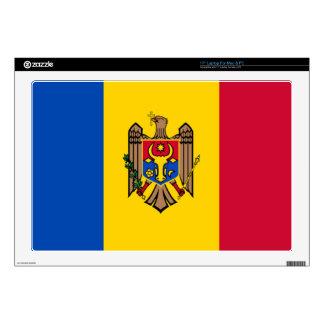 Bandera del Moldavia Skins Para Portátil