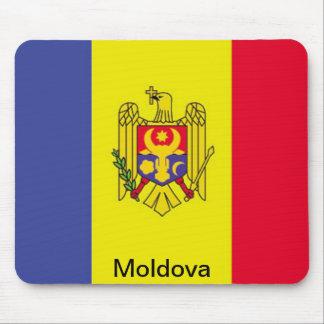 Bandera del Moldavia Tapetes De Ratón