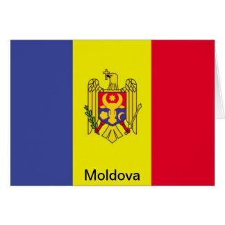 Bandera del Moldavia Tarjeta De Felicitación