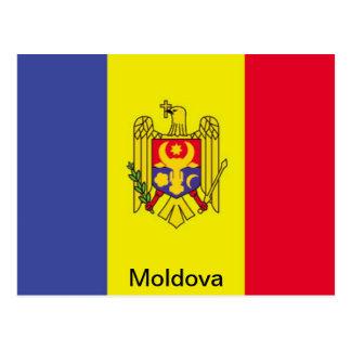 Bandera del Moldavia Tarjeta Postal